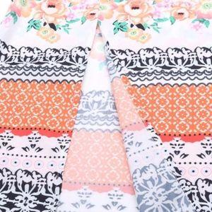 c4d4be3e7b9d Dresses - Multicolor Vintage Boho Print Slit Maxi Dress